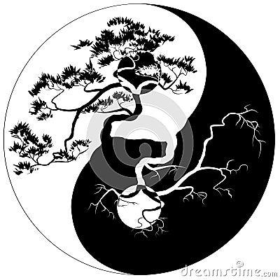 yin yang bonsai stock vector image 51064025 Unique Yin and Yang Signs Colorful Yin Yang