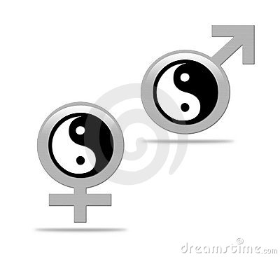 Yin yang concept