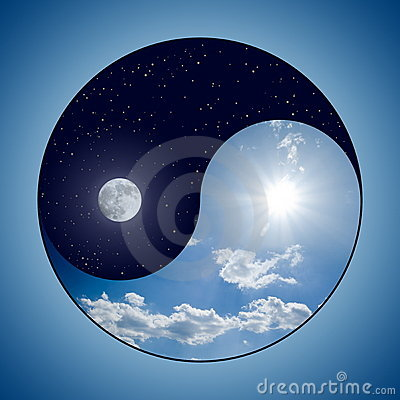 Free Yin & Yang - Day & Night Stock Images - 6721194