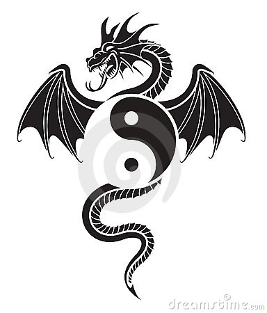 Free Yin Yang Dragon Royalty Free Stock Photos - 4734698