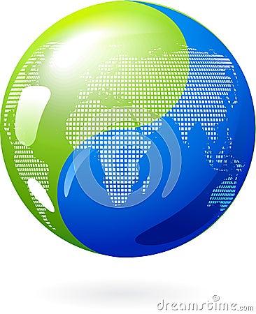 Free Yin Yang Earth - - Eco Energy Concept Stock Photo - 13801500