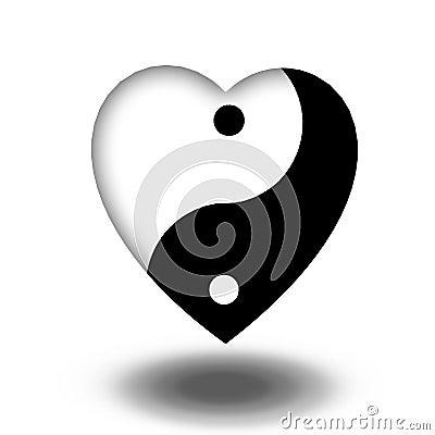 Free Yin Yang Heart Stock Photo - 41223180