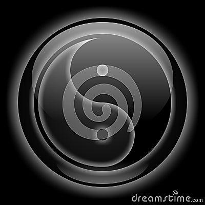 Yin-Yang Icon Black Style