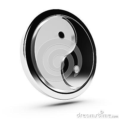 Yin yang modern 3d symbol