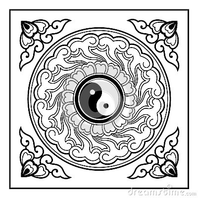 Yin yang pattern stock photography image 34843022 for Architecture yin yang