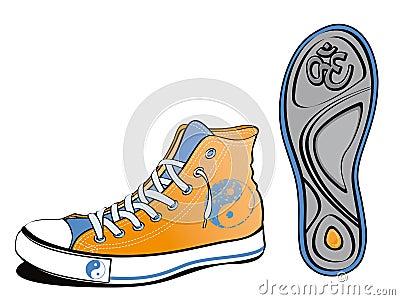 Yin yang shoe