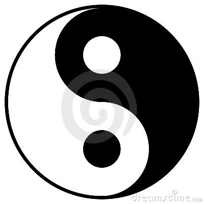 Free Yin Yang Symbol Stock Photography - 8968002