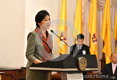Yingluck Shinawatra Editorial Stock Photo