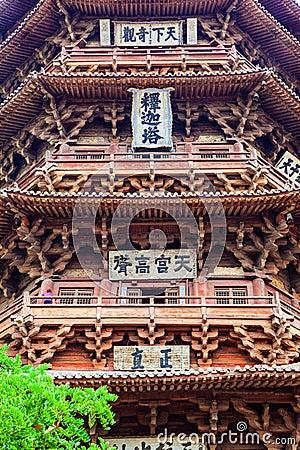 Yingxian Wonderful Pagoda.