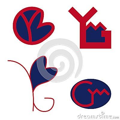 YMG letters logo Vector Illustration