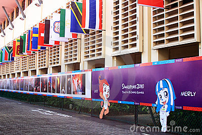 YOG Village Square of Youth Olympic Village Editorial Photo