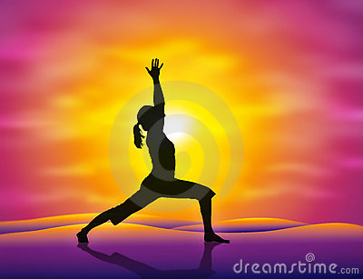 Yoga Cartoon Illustration