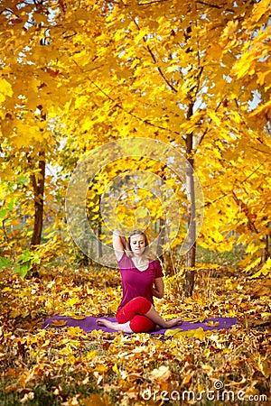 Yoga in autumn