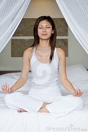 Yoga On Bed