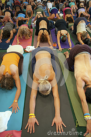 Yoga Class Editorial Photo