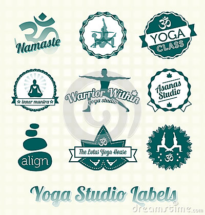 Yoga Class Labels and Icons