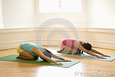 Yoga class women