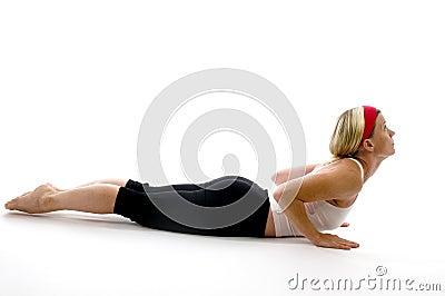 Yoga cobra fitness trainer teacher
