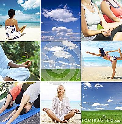 Yoga collage