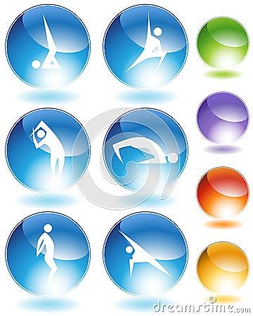 Yoga Crystal Icon Set