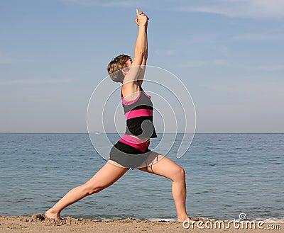 Yoga della spiaggia
