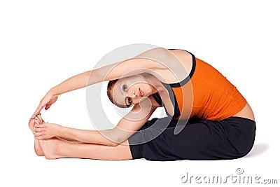 Yoga di pratica Asana della donna