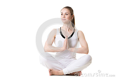 yoga easy pose stock photo  image 54039734