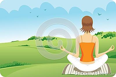 Yoga en la hierba