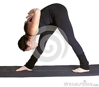 Yoga excercising parshvottanasana