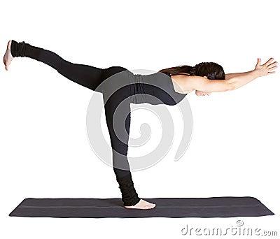 Yoga excercising Virabhadrasana III