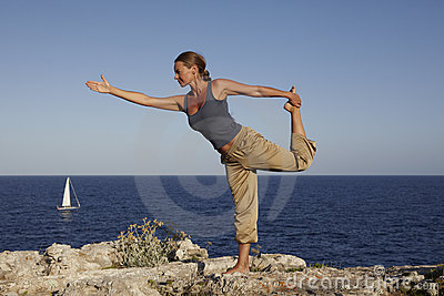 Yoga exercise Outdoor