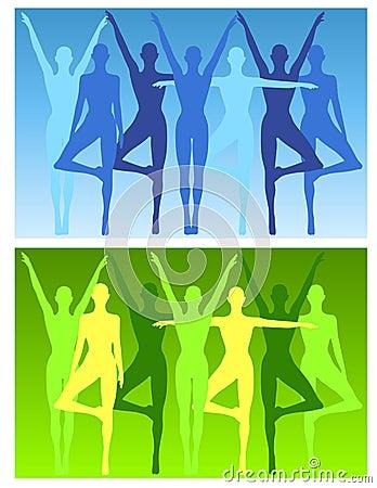 Yoga Fitness Female Backgrounds