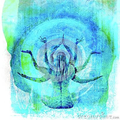 Free Yoga Flow Goddess Stock Photo - 25938520