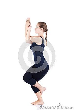 yoga garudasana eagle pose stock images  image 19123854