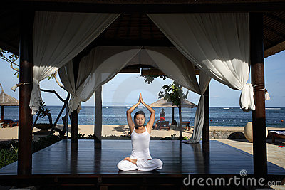 Yoga in a Gazebo