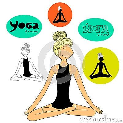 Yoga girl lotus pose