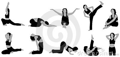 Yoga girl vector 4