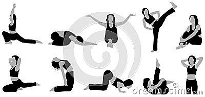 Yoga girl vector 4