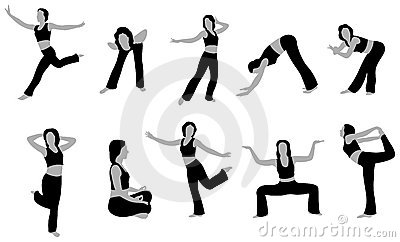 Yoga girl vector 5