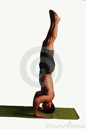Yoga Handstand Isolated