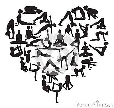 Free Yoga Heart Stock Image - 42387251