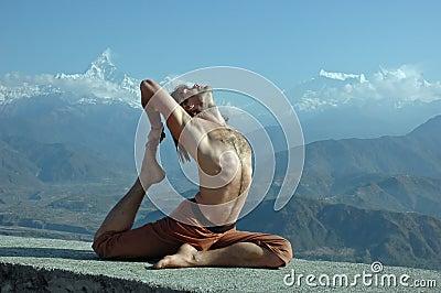 Yoga in Himalayas