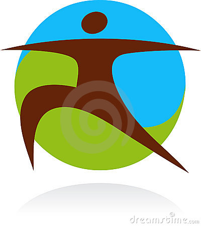 Yoga icon and logo