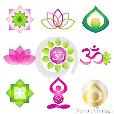 Free Yoga Icon Logo Element Stock Photography - 19157622