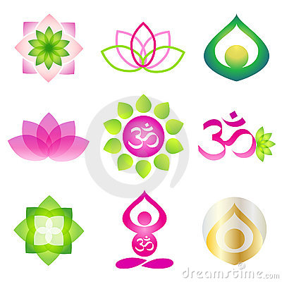 Yoga icon logo element Vector Illustration