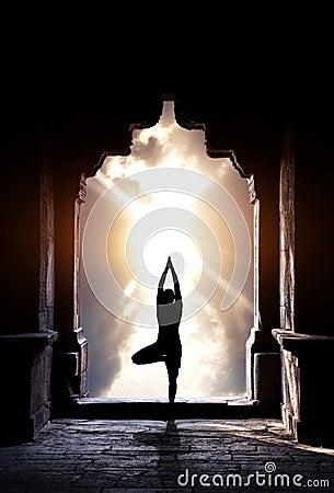 Free Yoga In Temple Stock Photo - 25899950