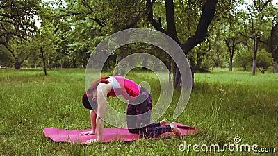 yoga girl practicing kapatasana king pigeon pose exercise