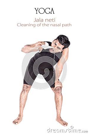 Yoga Jala neti cleansing technique