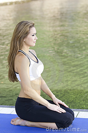 Yoga on the lake