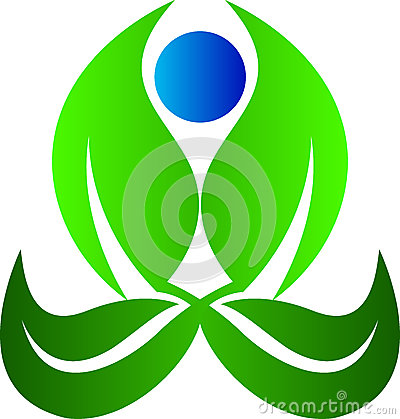 Yoga leaf Vector Illustration